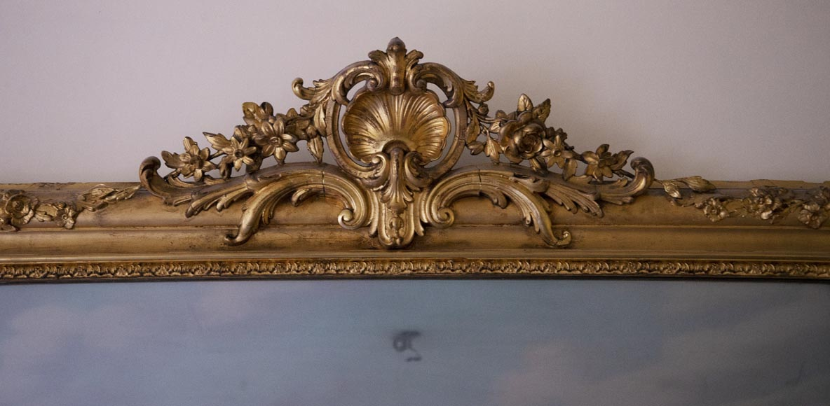 Antique gilded trumeau in the Louis XVI style-1