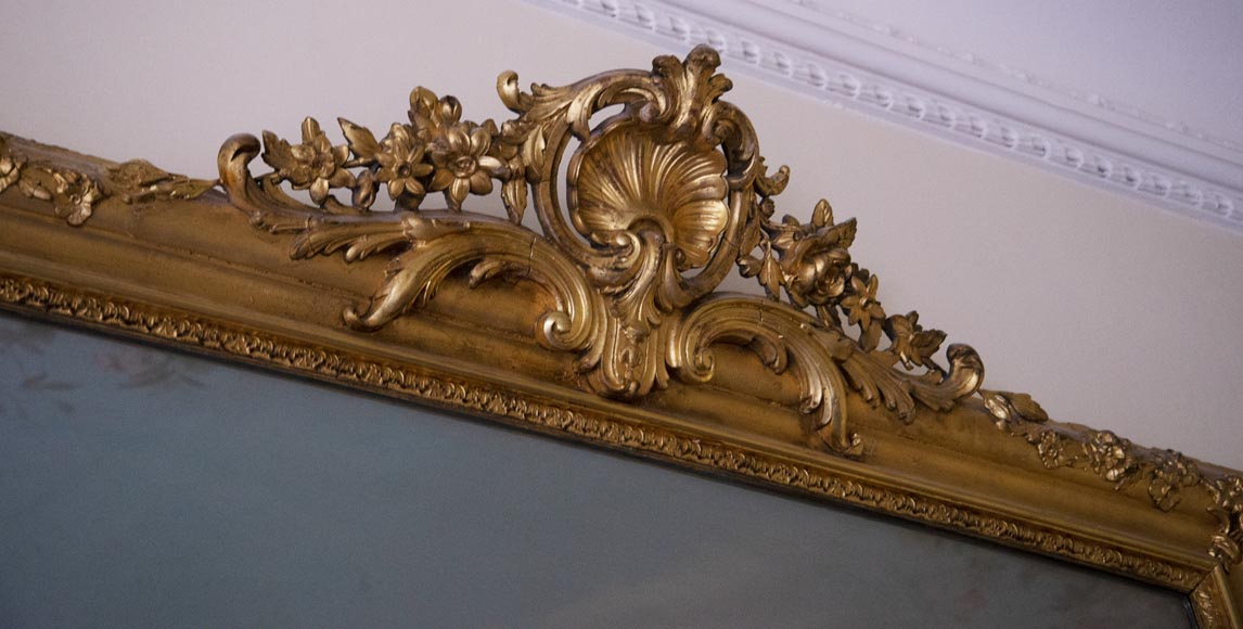 Antique gilded trumeau in the Louis XVI style-2