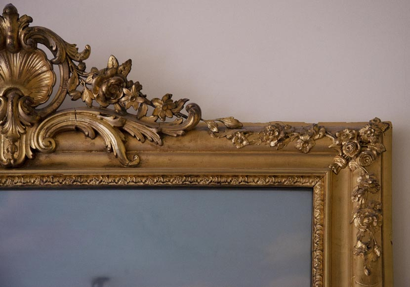 Antique gilded trumeau in the Louis XVI style-3