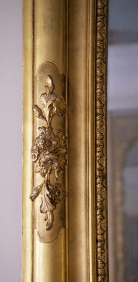 Antique gilded trumeau in the Louis XVI style-4