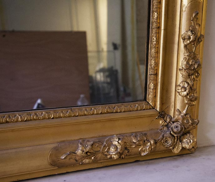 Antique gilded trumeau in the Louis XVI style-5