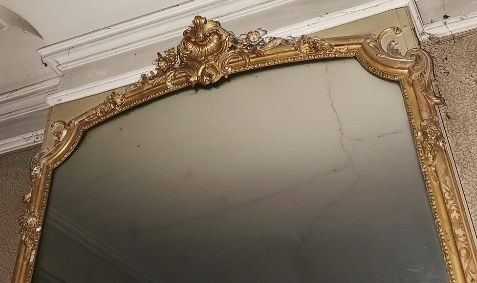 Large gilded antique Louis XV style trumeau-2