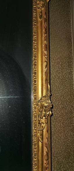Large gilded antique Louis XV style trumeau-3