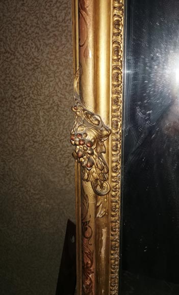 Large gilded antique Louis XV style trumeau-4