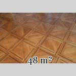 Lot of 69.5 m2 of antique parquet flooring, Napoleon III style, second half of the 19th century