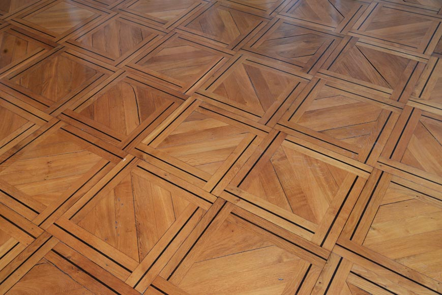 Lot of 69.5 m2 of antique parquet flooring, Napoleon III style, second half of the 19th century-0
