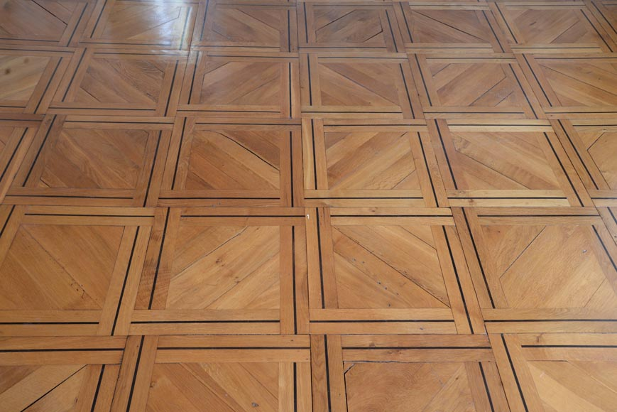 Lot of 69.5 m2 of antique parquet flooring, Napoleon III style, second half of the 19th century-1