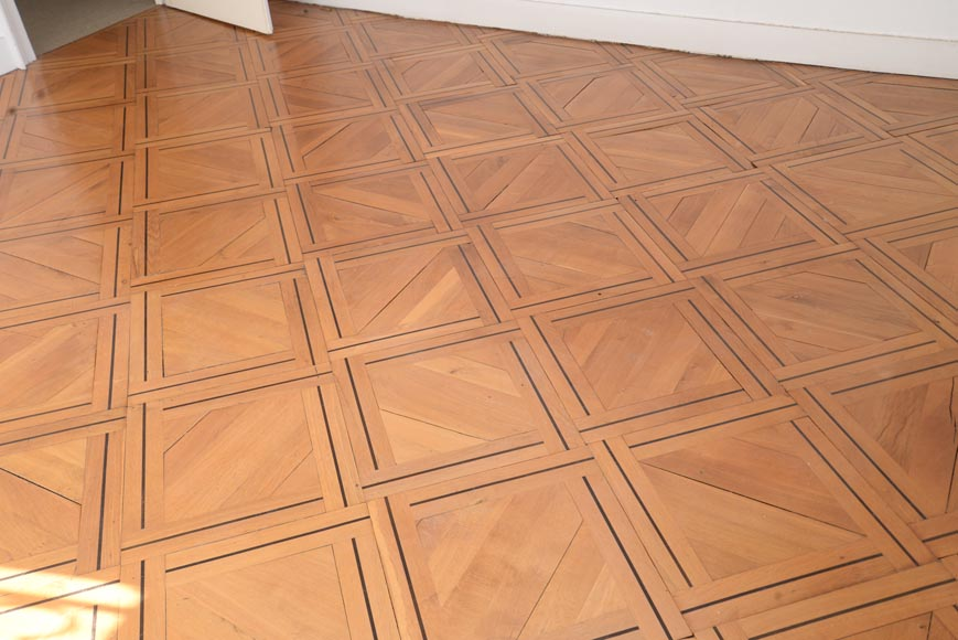 Lot of 69.5 m2 of antique parquet flooring, Napoleon III style, second half of the 19th century-3