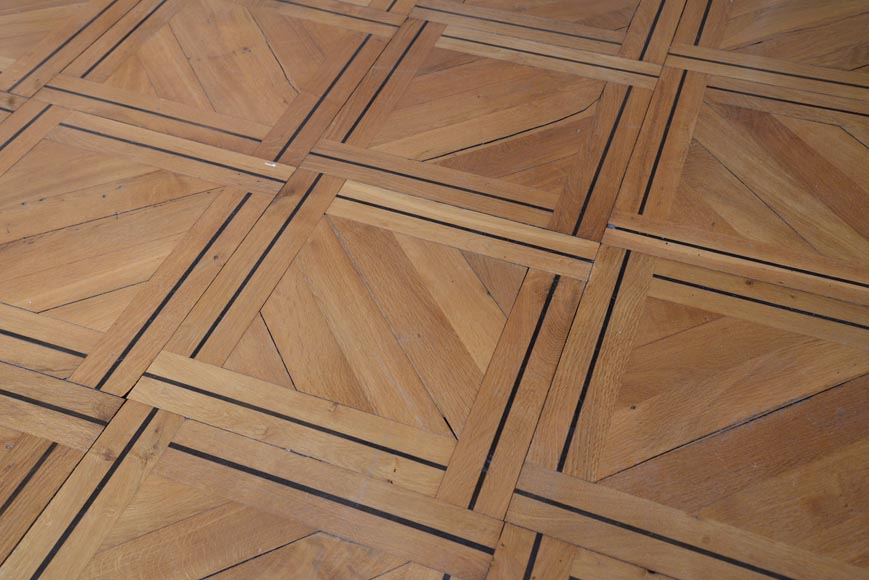 Lot of 69.5 m2 of antique parquet flooring, Napoleon III style, second half of the 19th century-5