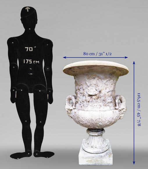 François GIRARDON (after) - Reconstituted stone vase-7