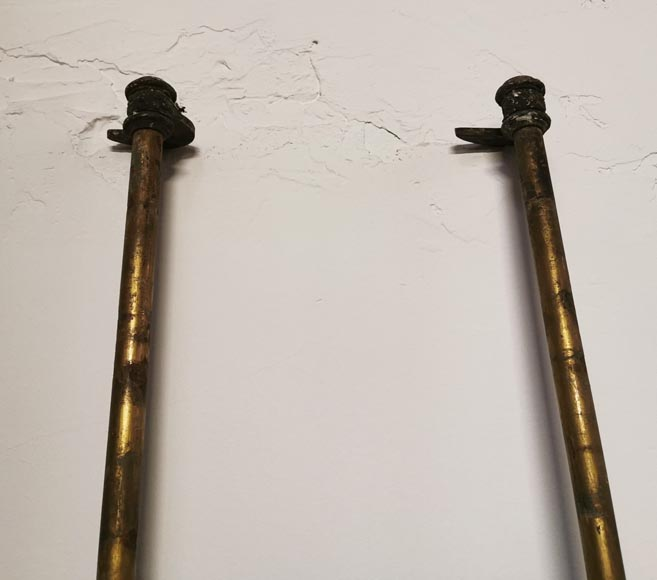 Pair of bronze cremone bolts signed
