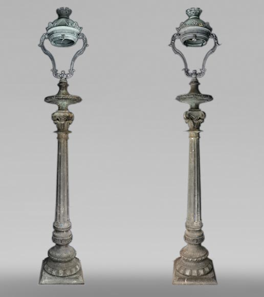 Important pair of bronze candelabra, 1868-0