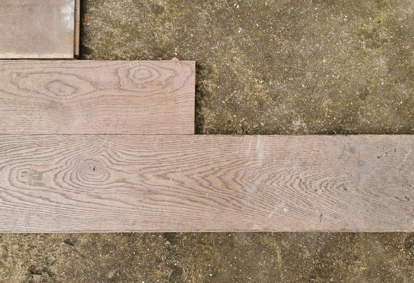 Lot of linear oak parquet flooring from the Mini Palais.-2