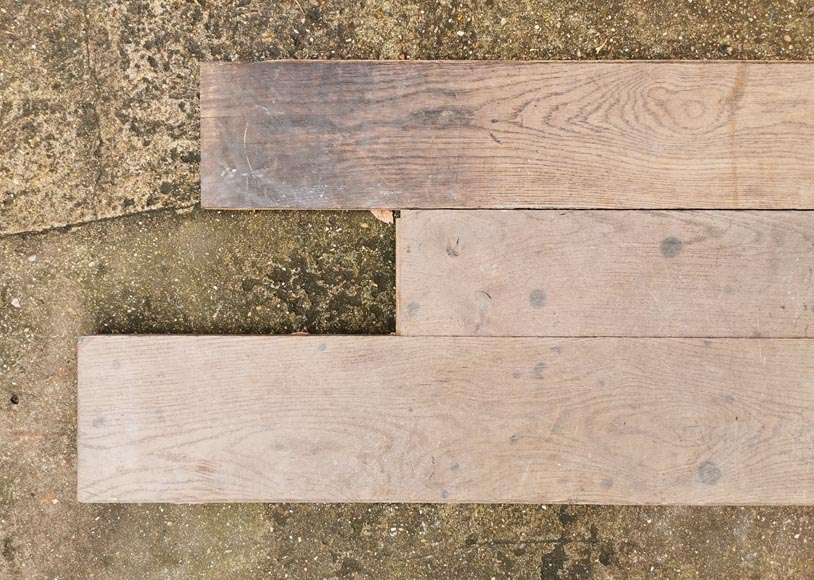 Lot of linear oak parquet flooring from the Mini Palais.-3