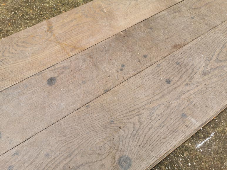 Lot of linear oak parquet flooring from the Mini Palais.-4
