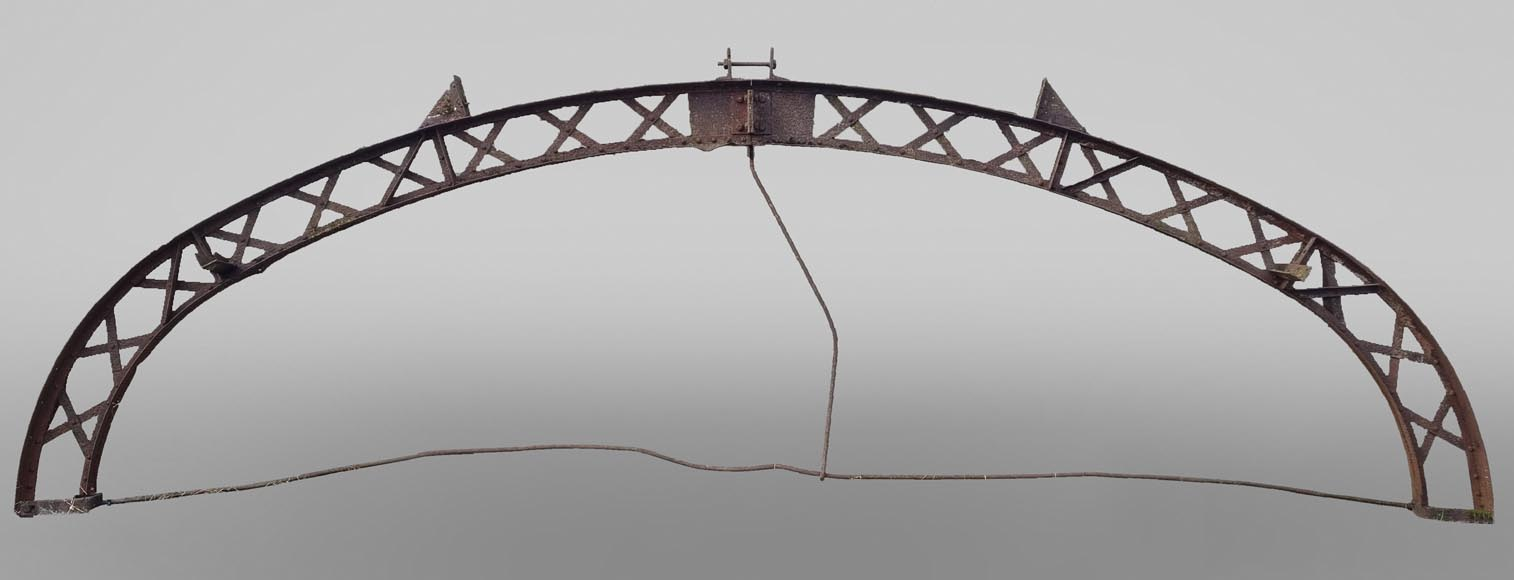Set of twelve metallic structure shaped as an arc, 19th century-0