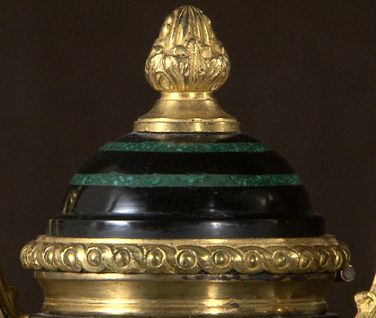 TAHAN: Malachite and Marble Inkwell-7