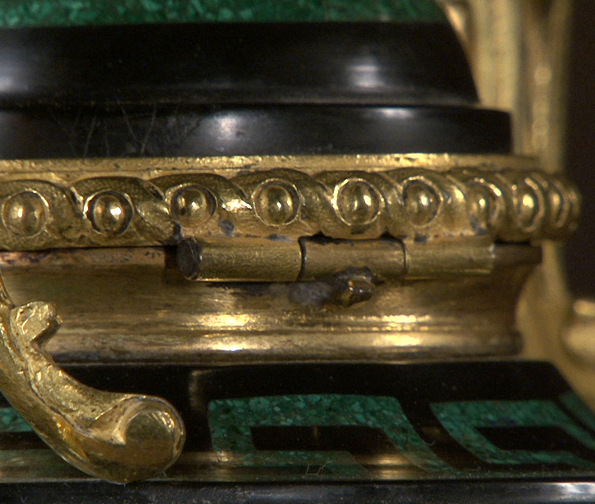 TAHAN: Malachite and Marble Inkwell-13