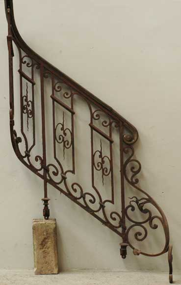 Napoleon Iii Wrought Iron Bannister Architectural Elements Staircase Columns