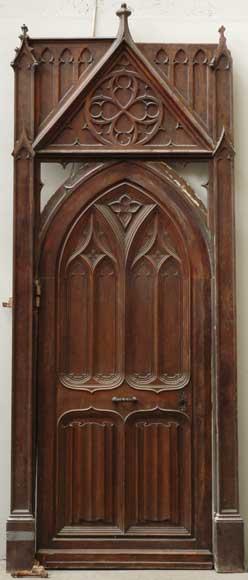 Exterior Door Trim >> Neo-Gothic oak and walnut door - Doors
