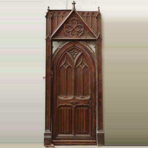 Neo Gothic Oak And Walnut Door