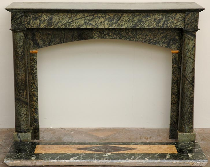 Irish green marble mantel with columns - Reference 1341
