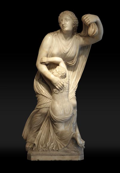 """Niobe"", alabaster statue after an original greek statue-0"