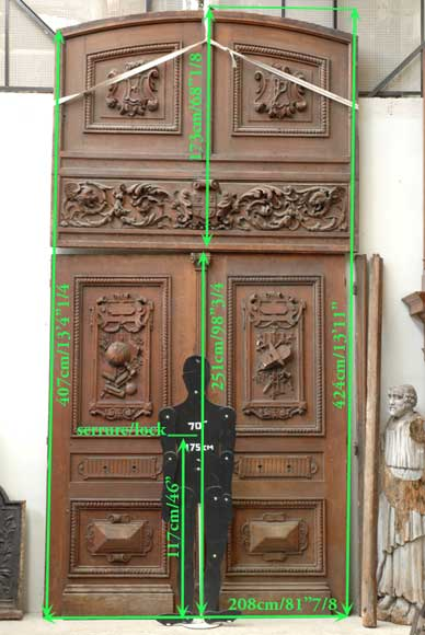 Oak 19th century double door -16