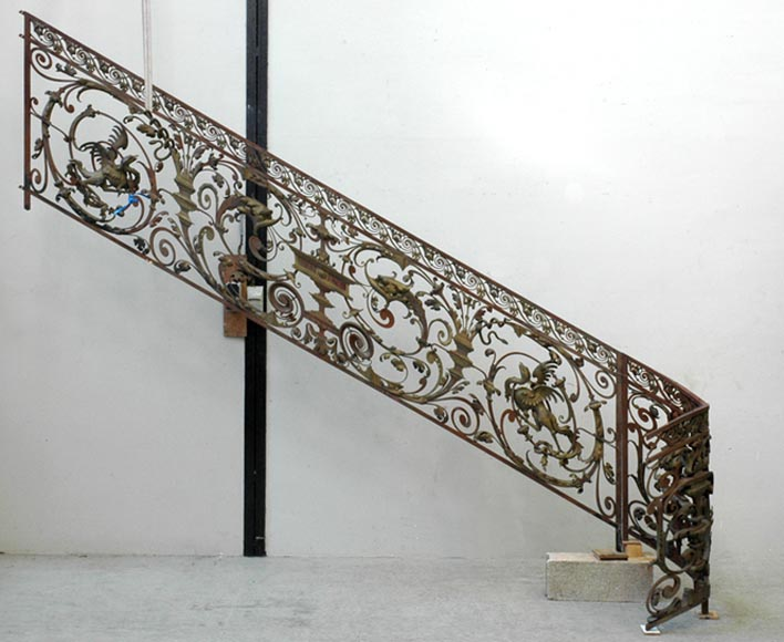 Exceptional banister from the Napoleon III period-0