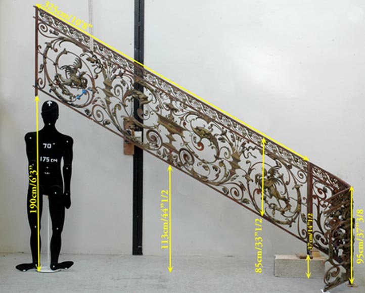 Exceptional banister from the Napoleon III period-11