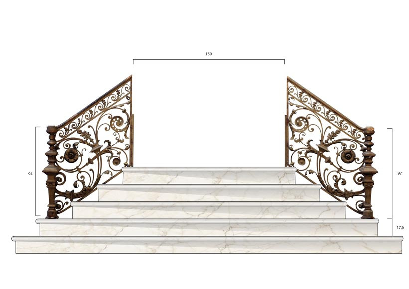 Exceptional banister from the Napoleon III period-20