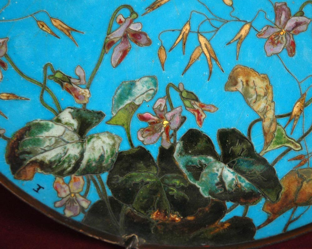 Andre-Fernand THESMAR (1845 - 1912) and Ferdinand BARBEDIENNE,  Ornamental Japanese plate-3