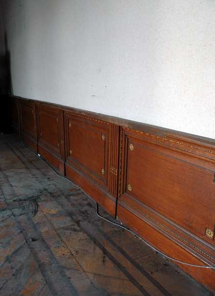 Oak Paneled Room: Louis XVI Style Oak And Stucco Paneled Room