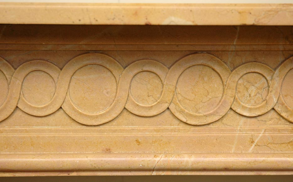 Antique Louis XVI mantel in Yellow marble -1