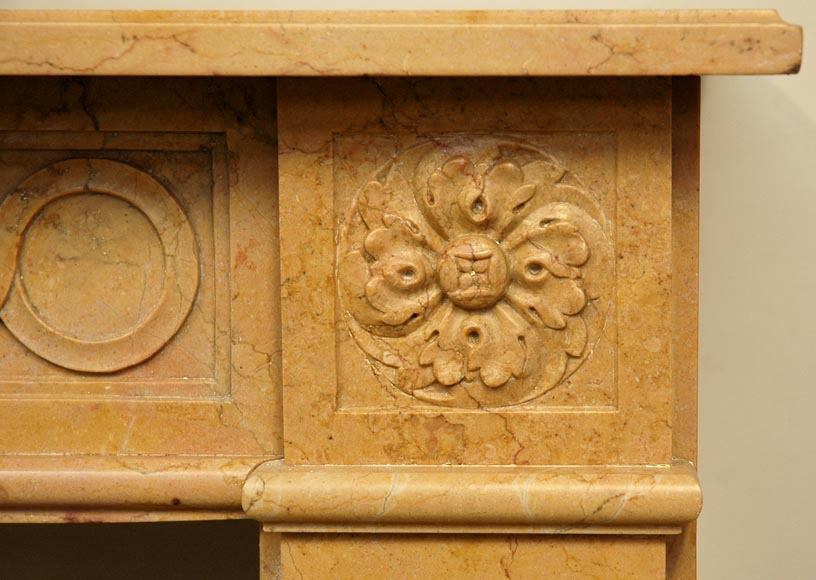 Antique Louis XVI mantel in Yellow marble -2