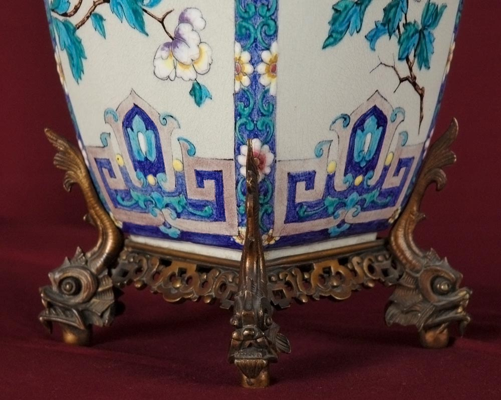 Pair of Japenese Vases by Alphonse Giroux and Charles Ficquenet-3