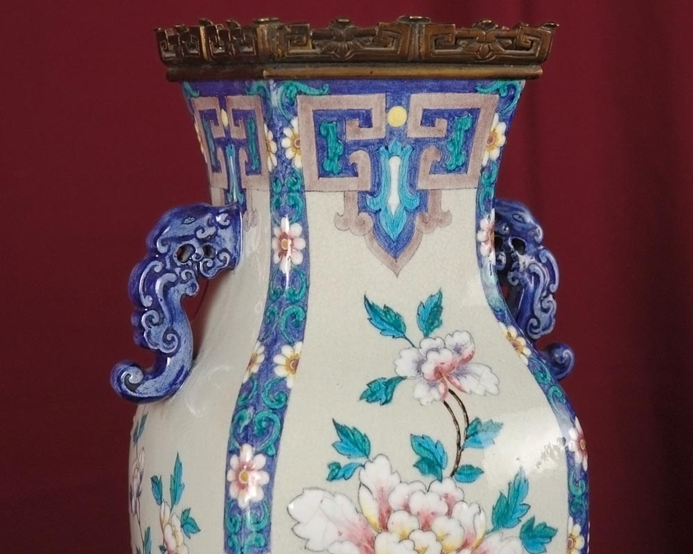 Pair of Japenese Vases by Alphonse Giroux and Charles Ficquenet-5