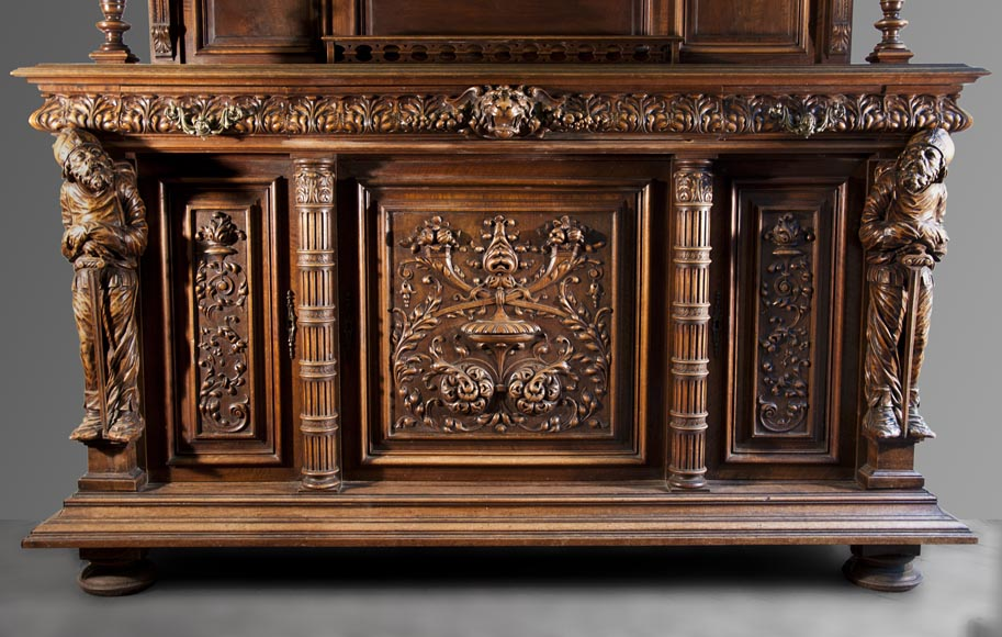 Antique Neo-Renaissance style furniture made out of carved walnut-2