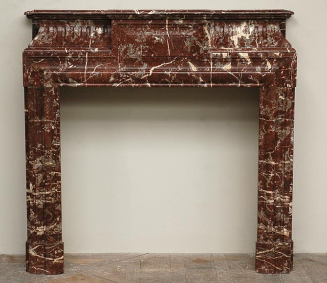 Antique Louis XIV style marble mantel with acroterion - Reference 1595