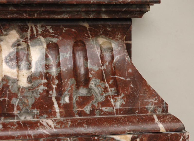 Antique Louis XIV style marble mantel with acroterion-2