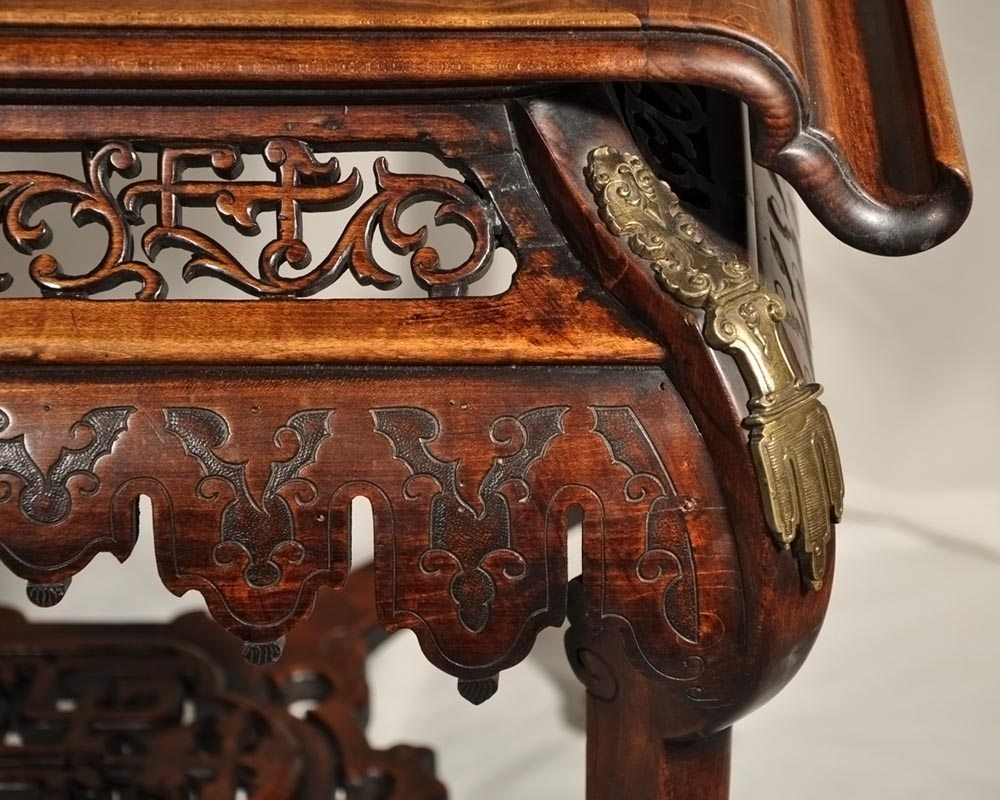 Japanese-style table with partridge-6