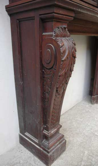 Antique Fireplace Screen >> Antique Mahogany Mantel piece with overmantel - Wood
