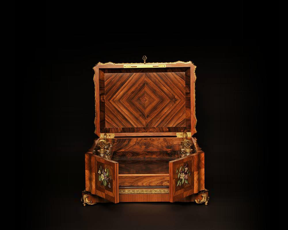 Maison TAHAN and Julien-Nicolas RIVART (1802-1867) - Perfume box decorated  with porcelain marquetry-2