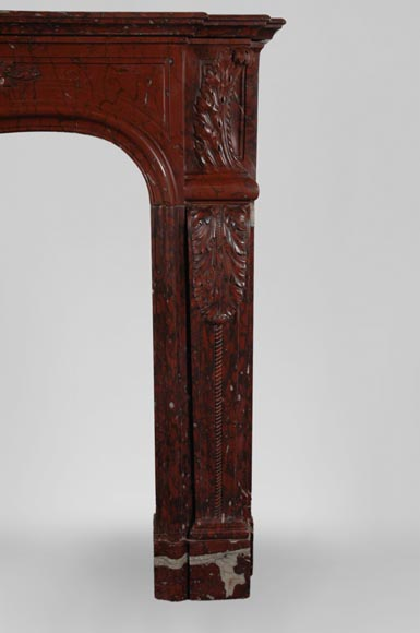 19th Century red Griotte marble mantel-3