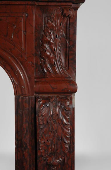 19th Century red Griotte marble mantel-4