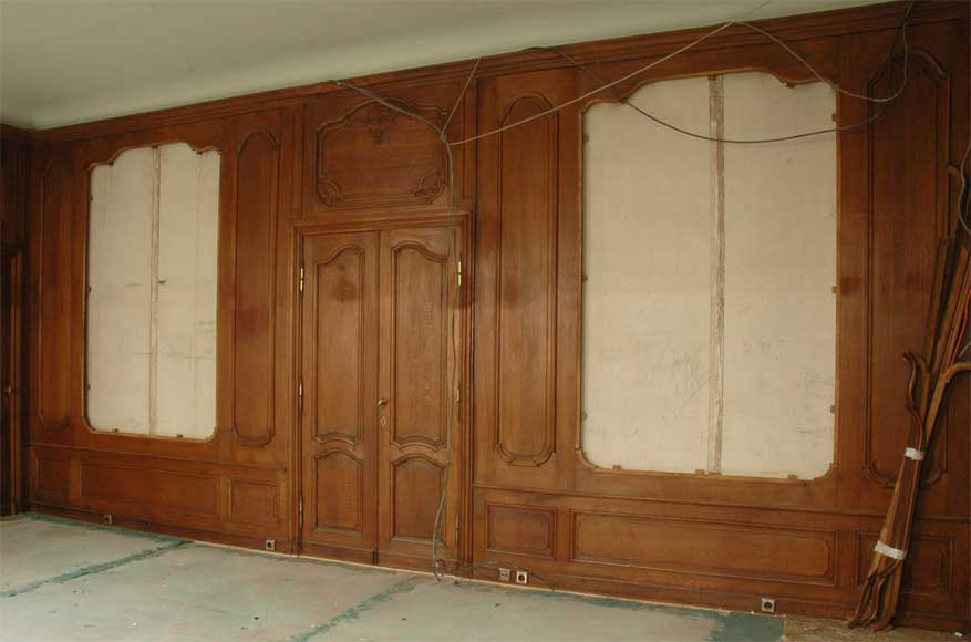 Antique oak paneled room from the beginning of the 20th century - Reference 1690