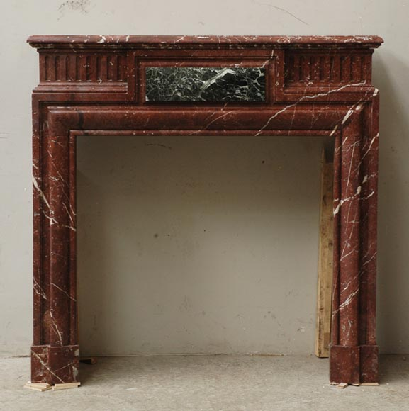 Louis XIV style mantel in Rouge du Nord marble-0