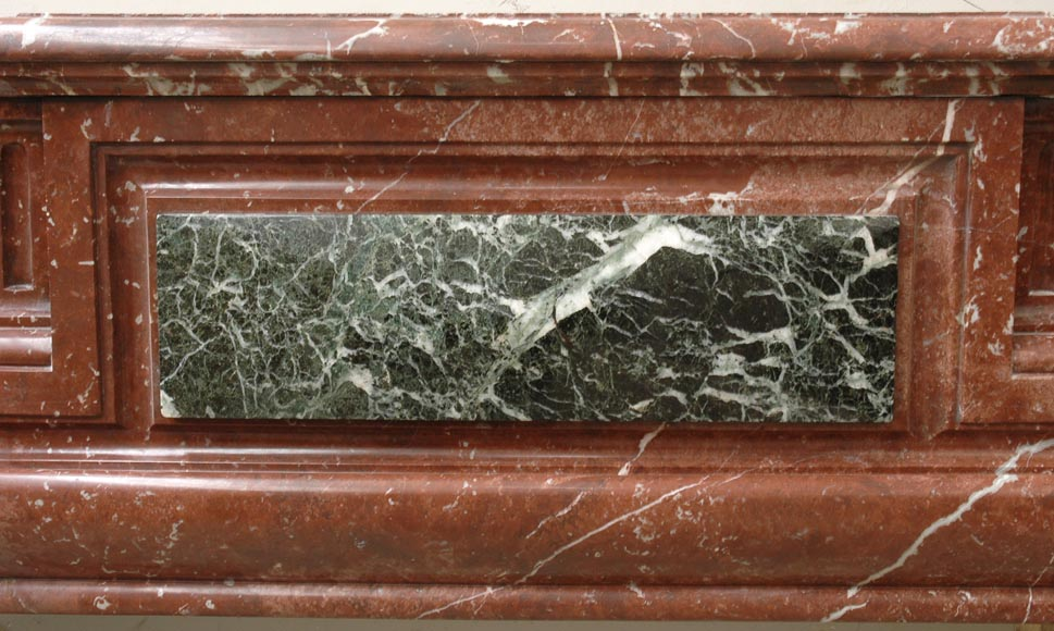 Louis XIV style mantel in Rouge du Nord marble-1