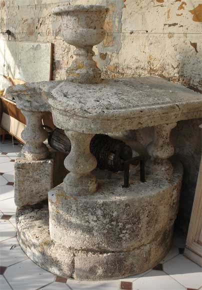 Antique stone well from the 18th century-1