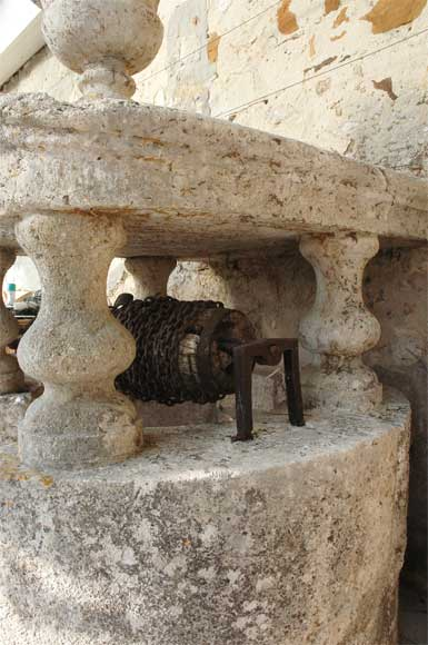 Antique stone well from the 18th century-3